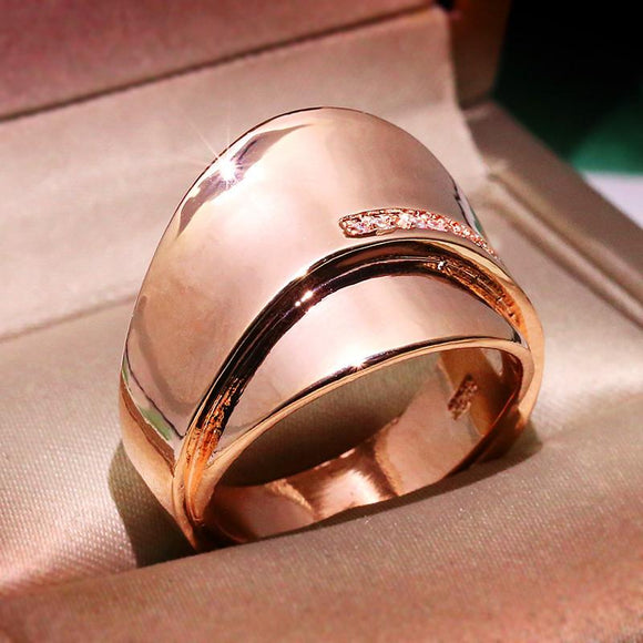 Rose Gold Color Promise Engagement Rings for Women DromedarShop.com Online Boutique