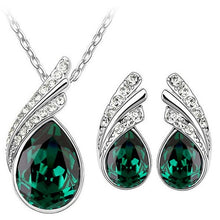 Bridal Austrian Crystal necklace Earrings Jewelry Sets