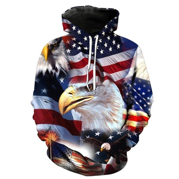 USA Flag 3D Hoodies - DromedarShop.com Online Boutique