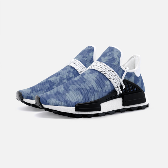 Blue Camouflage Unisex Lightweight Sneaker S-1 Boost DromedarShop.com Online Boutique