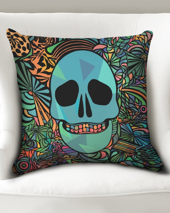 Aztec-Inka Collection Mexican Colorful Skull Throw Pillow Case 20