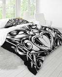 Maori Mask Collection King Duvet Cover Set DromedarShop.com Online Boutique