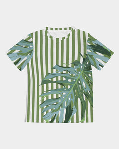 Foliage On Green Stripes Kids Tee DromedarShop.com Online Boutique