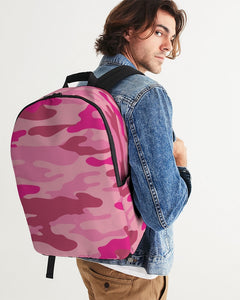 Pink 3 Color Camouflage Large Backpack DromedarShop.com Online Boutique
