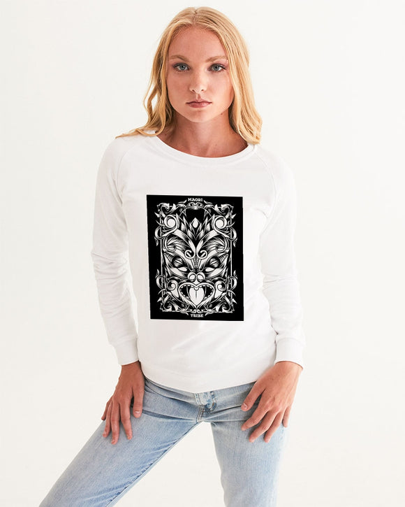 Maori Mask Collection Women's Graphic Sweatshirt DromedarShop.com Online Boutique