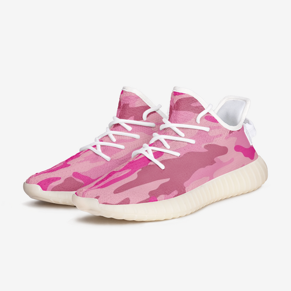 Pink Camouflage  Unisex Lightweight Sneaker YZ Boost DromedarShop.com Online Boutique