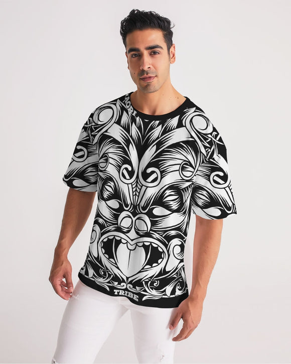 Maori Mask Collection Men's Premium Heavyweight Tee DromedarShop.com Online Boutique