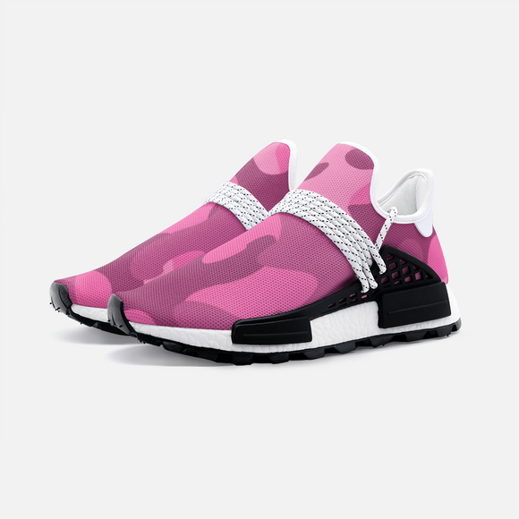 Pink Puzzle Camouflage Unisex Lightweight Sneaker S-1 Boost DromedarShop.com Online Boutique