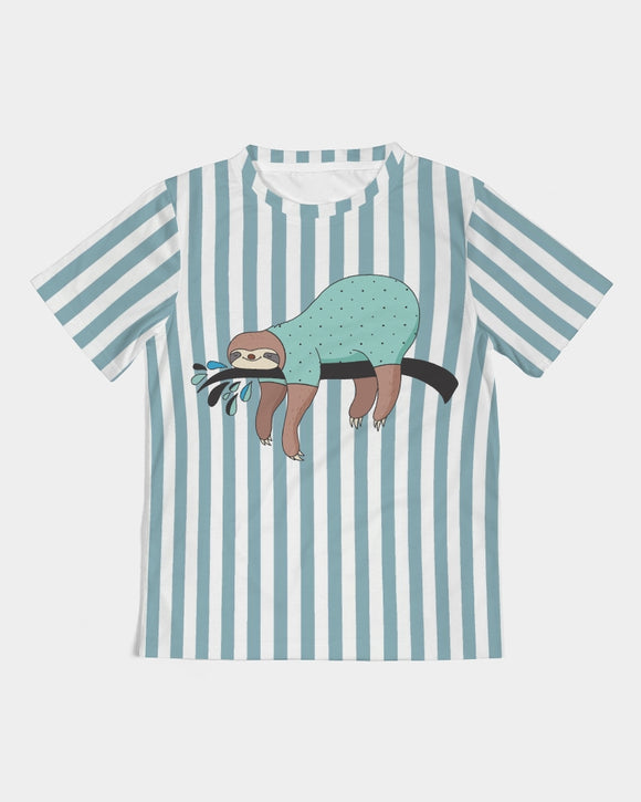 Light Blue Stripes Kids Tee DromedarShop.com Online Boutique