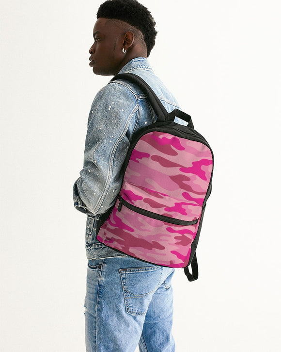 Pink 3 Color Camouflage Small Canvas Backpack DromedarShop.com Online Boutique