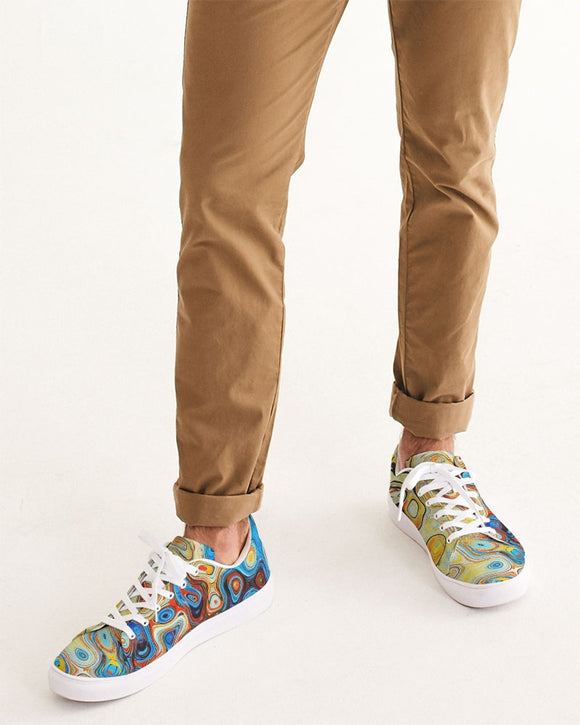 You Like Colors Men's Faux-Leather Sneaker DromedarShop.com Online Boutique