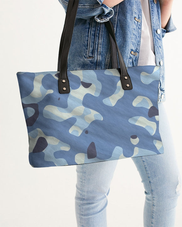 Blue Maniac Camouflage Stylish Tote DromedarShop.com Online Boutique