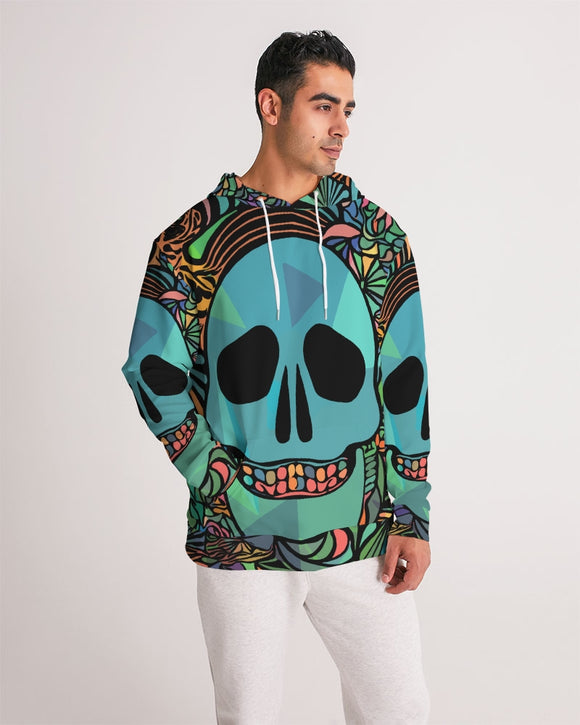 Aztec-Inka Collection Mexican Colorful Skull Men's Hoodie DromedarShop.com Online Boutique