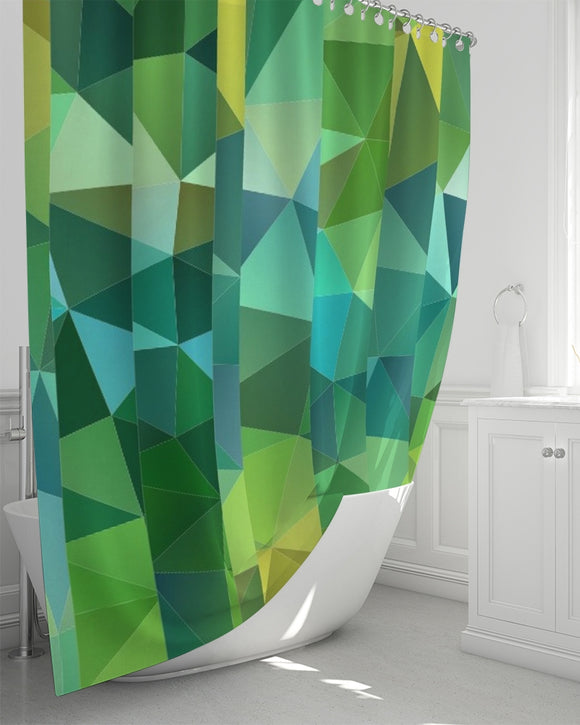 Green Line 101 Shower Curtain 72