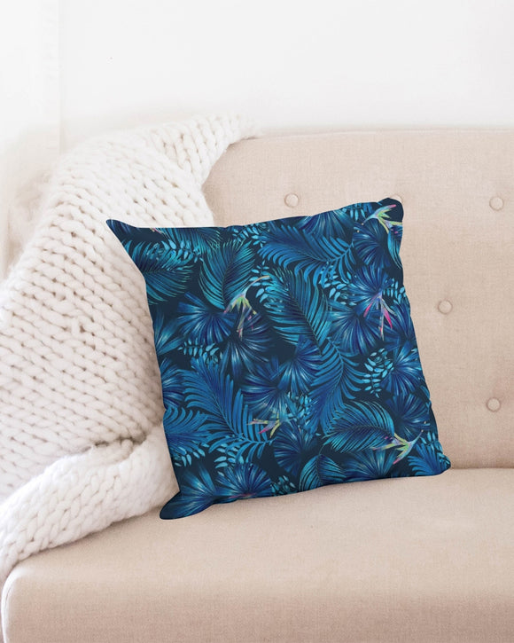 Floliage blue dream Throw Pillow Case 18