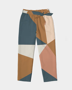 Geometry Women's Belted Tapered Pants DromedarShop.com Online Boutique