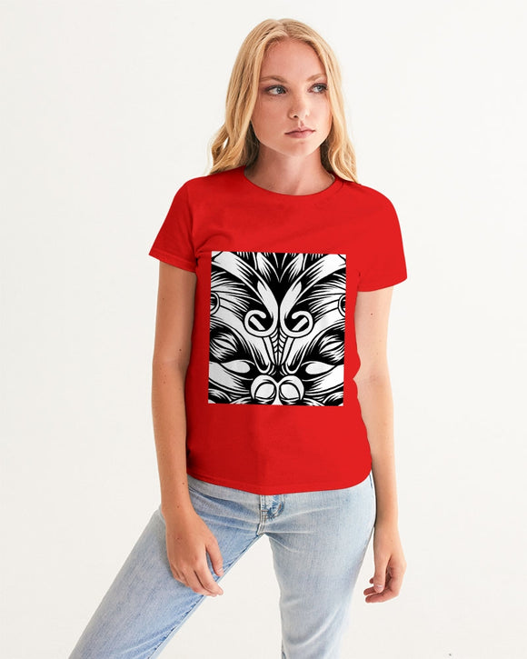 Maori Mask Collection Women's Graphic Tee DromedarShop.com Online Boutique