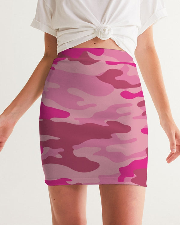 Pink 3 Color Camouflage Women's Mini Skirt DromedarShop.com Online Boutique