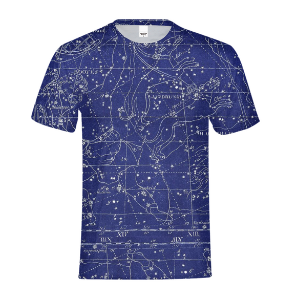 stars map blue Kids Tee DromedarShop.com Online Boutique