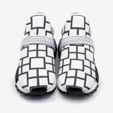 Black and White Squares Unisex Lightweight Sneaker S-1 Boost DromedarShop.com Online Boutique