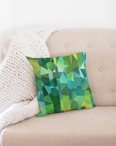 "Green Line 101 Throw Pillow Case 16""x16"" DromedarShop.com Online Boutique"