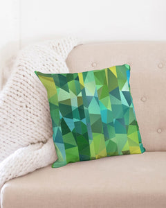 "Green Line 101 Throw Pillow Case 18""x18"" DromedarShop.com Online Boutique"