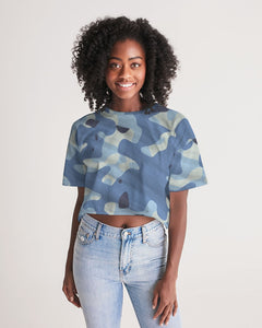 Blue Maniac Camouflage Women's Lounge Cropped Tee DromedarShop.com Online Boutique