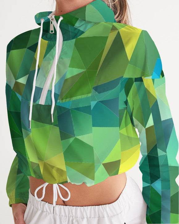 Green Line 101 Women's Cropped Windbreaker DromedarShop.com Online Boutique
