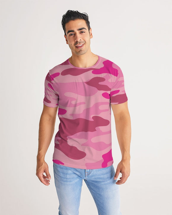 Pink 3 Color Camouflage Men's Tee DromedarShop.com Online Boutique