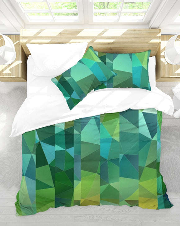 Green Line 101 Queen Duvet Cover Set DromedarShop.com Online Boutique