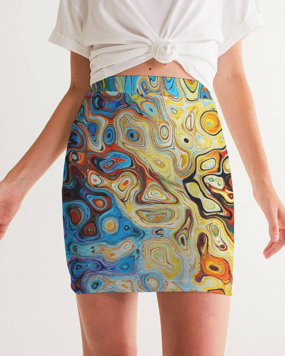You Like Colors Women's Mini Skirt DromedarShop.com Online Boutique