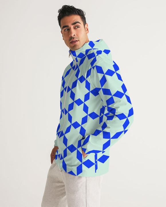 The Miracle of the East  Blue Arabic-pattern Men's Windbreaker DromedarShop.com Online Boutique