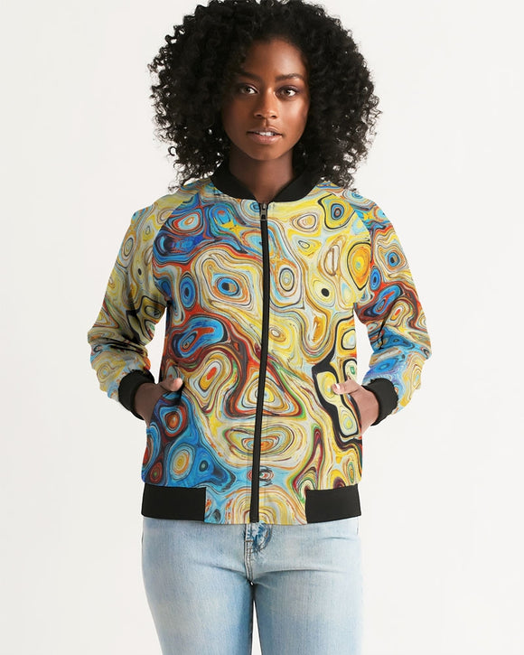 You Like Colors Women's Bomber Jacket DromedarShop.com Online Boutique