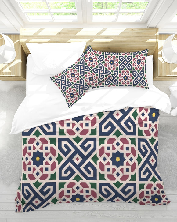 The Miracle of the East Moroccan pattern  King Duvet Cover Set DromedarShop.com Online Boutique