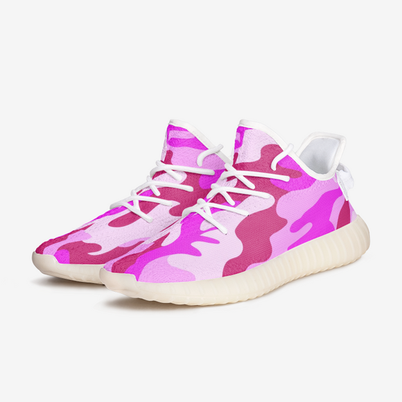 Intensive Pink Camouflage Unisex Lightweight Sneaker YZ Boost DromedarShop.com Online Boutique