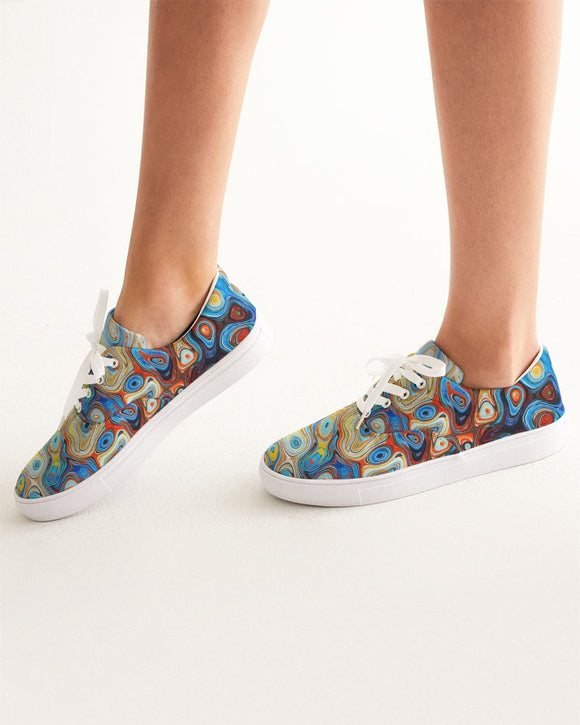 You Like Colors Women's Lace Up Canvas Shoe DromedarShop.com Online Boutique