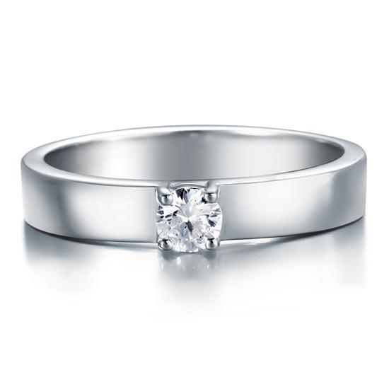 Classic Created Diamond Solid Sterling 925 Silver Wedding Ring DromedarShop.com Online Boutique