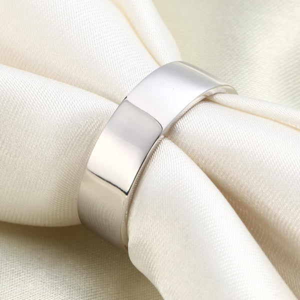Men's Solid Sterling 925 Silver Wedding Band Ring DromedarShop.com Online Boutique