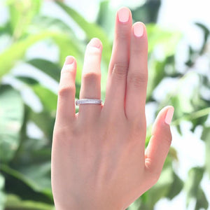 Micro Solid Setting 925 Sterling Silver Ring
