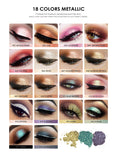 FOCALLURE 18 Colors Glitter Eyeshadow Makeup - DromedarShop.com Online Boutique