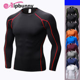 Men's Long Sleeves Sports Jersey Shirts Tight Dry Fit Sportswear