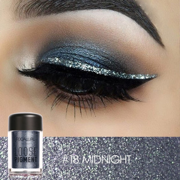 FOCALLURE 18 Colors Glitter Eyeshadow Makeup DromedarShop.com Online Boutique