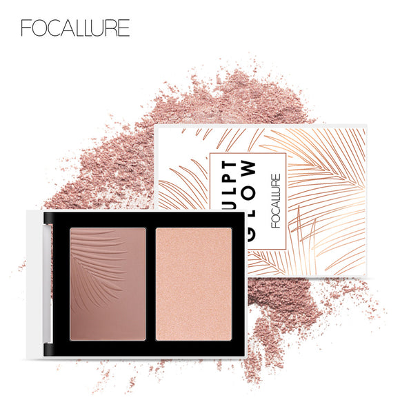 FOCALLURE Bronzer Highlighter Palette Natural Face Makeup - DromedarShop.com Online Boutique