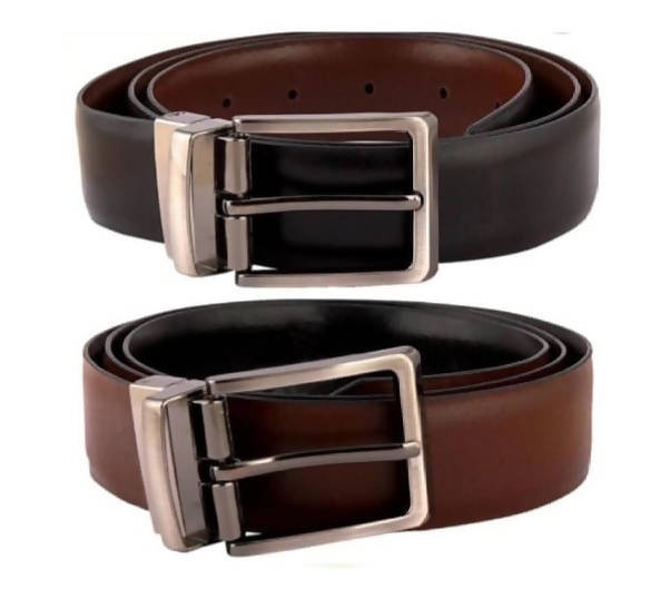 Sunny Leather Men's Reversible Belt - Black/Brown