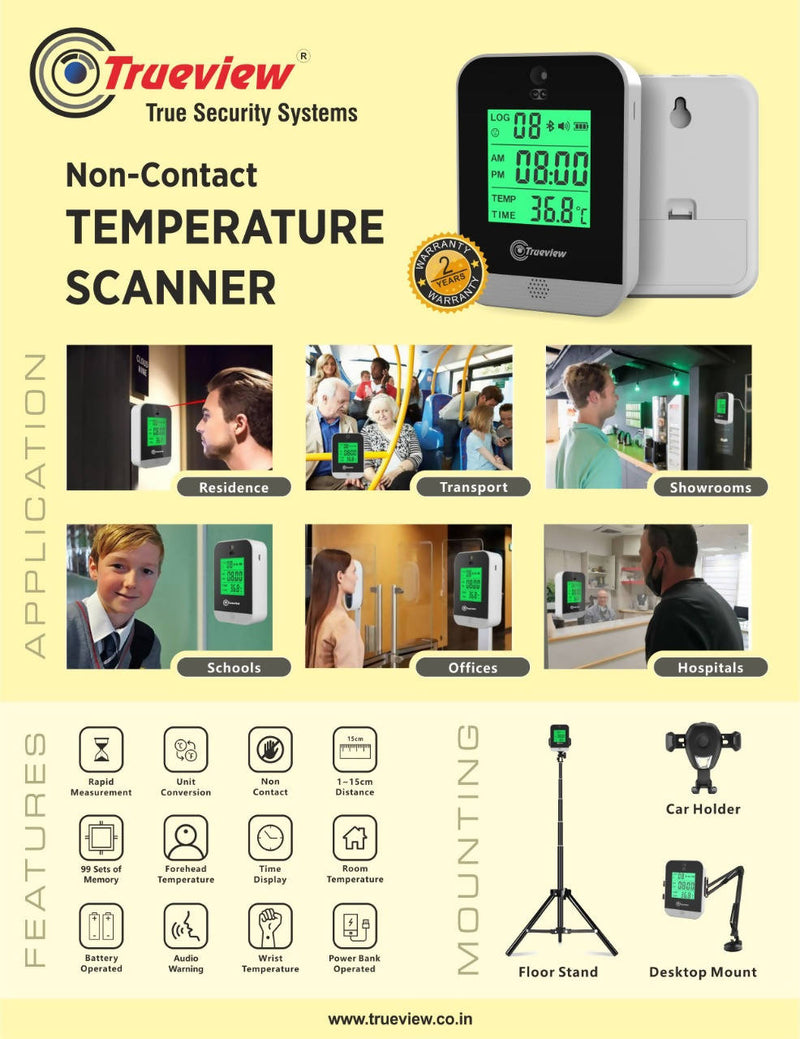Non contact temperature scanner