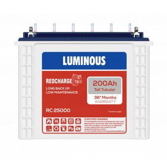Luminous RC 25000 : 200Ah / 12V - Battery