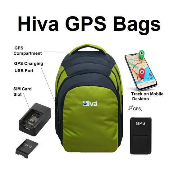 Hiva GPS Fitted Laptop School College Bag Ares, TBS1197