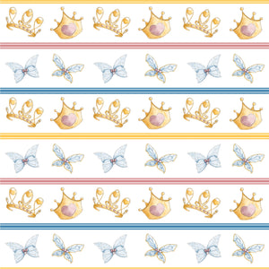 Ballerina Bugs Wings and Crowns Fabric