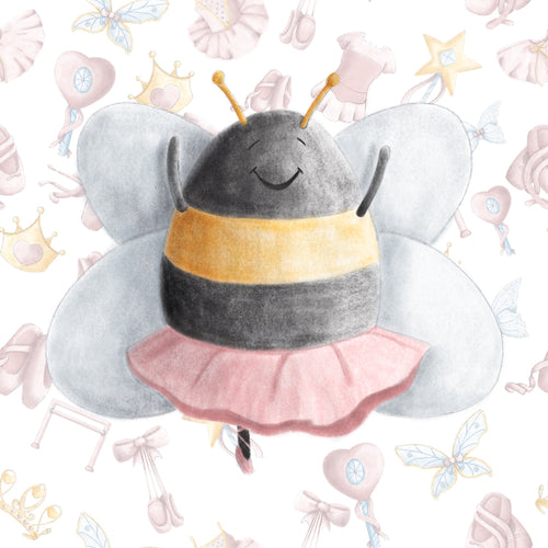 Ballerina Bugs Bee Scatter Fabric