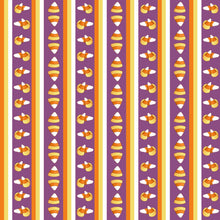 Sweet Halloween Candy Corn Stripe Fabric